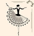 image of ballet dancer vector image