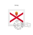 Jersey Flag Postage Stamp vector image vector image