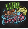 lettering Multicolored letters on a grey vector image vector image