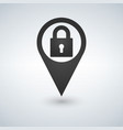 location lock marker pin point position secure vector image vector image