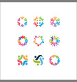 logo icons people together - sign unity vector image