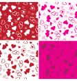 love background set vector image