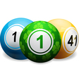 lucky clover bingo ball on white vector image vector image