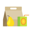 lunch healthy pack for school or office vector image