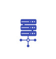 mainframe server icon vector image vector image