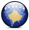 Map on flag button of Kosovo vector image vector image