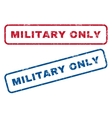 Military Only Rubber Stamps vector image vector image