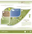 Modern Ecology infographics vector image vector image