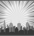 monochrome comic background vector image vector image