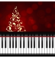 musical christmas template vector image vector image
