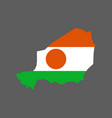 niger flag and map vector image vector image
