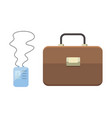 office personal and business icon briefcase vector image vector image