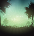 Palm tree landscape vector image vector image