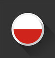 poland national flag on dark background vector image vector image