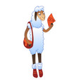post sheep icon cartoon style vector image vector image