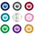 Power Button set vector image
