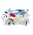 road cycling race grunge stylized vector image vector image