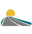 road transportation theme vector image vector image