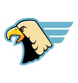 simple eagle head vector image vector image
