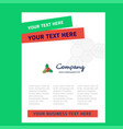 socks title page design for company profile vector image vector image