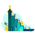 target achievement and teamwork business concept vector image