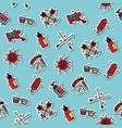 tattoo flat icons pattern vector image vector image