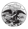 the official seal of the us state of illinois in vector image vector image
