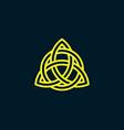 triquetra trinity knot celtic symbol vector image vector image