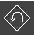 U-turn Sign vector image