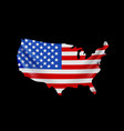 usa flag in form map united states america vector image vector image