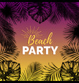 vintage beach party exotic vector image vector image
