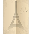 Vintage card with Eiffel Tower vector image vector image