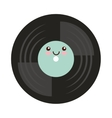 vinyl disc isolated icon vector image vector image
