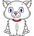 White cat cartoon vector image vector image