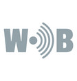 wifi logo simple gray style vector image