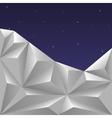 Winter Polygonal Sky vector image