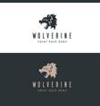 wolverine logo vector image