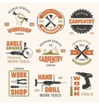 Work Tools Retro Style Emblems vector image vector image