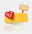 yellow sale card on white vector image vector image