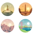 Icons set landmarks and cultures vector image