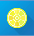 lemon flat lemon geometrical vector image