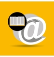 education opened book mail icon vector image