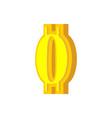 0 numeral bitcoin font zero numeric crypto vector image vector image