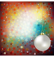 Abstract brown background with Christmas vector image vector image