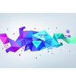 abstract colorful blue faceted crystal vector image vector image