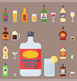 alcohol drinks beverages cocktail bottle lager vector image vector image