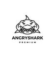angry shark logo icon vector image