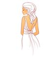 back dress vector image vector image
