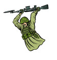 bayonet fighting soldiers at war vector image vector image