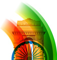 beautiful indian flag design vector image vector image